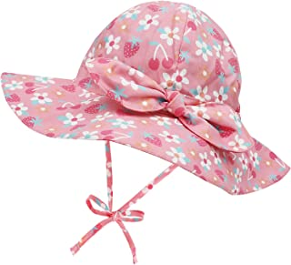 Baby Sun Hat Toddler Hat Sun Hats for Toddler Girls UPF 50+ Infant Sun Hat Wide Brim Baby Beach Hat Summer Hat with Bow