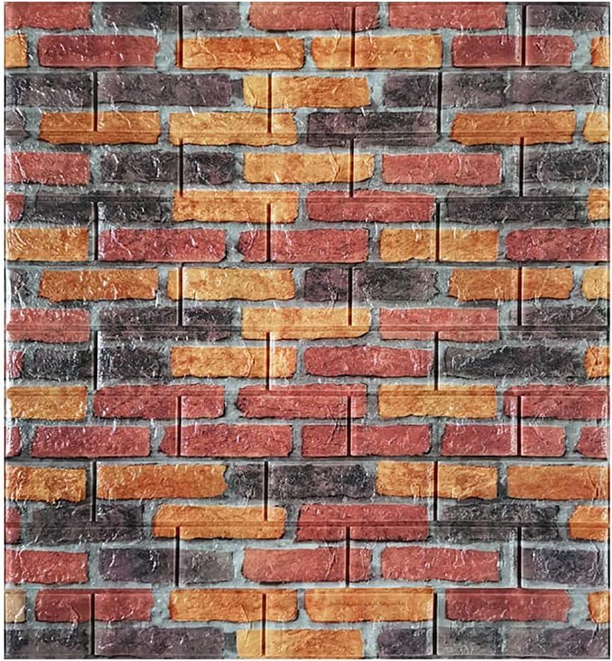 WANGF Brick Wall Yellow Ranking TOP7 Red and Panel Self Ranking TOP18 Waterproof