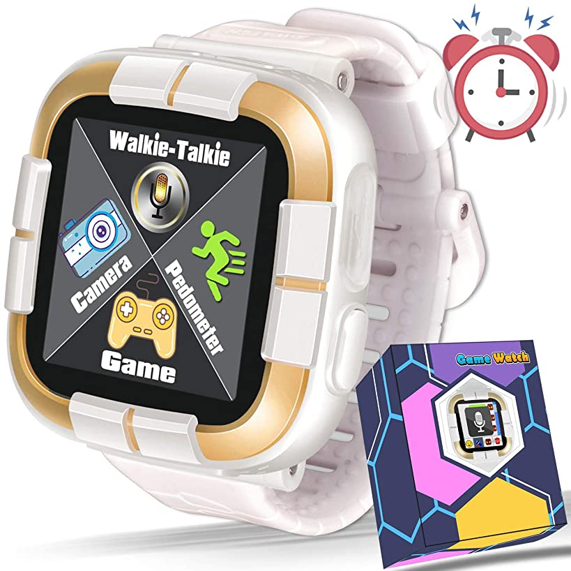 GBD 2019 New Kids Games Smart Watch Fitness Tracker [Walkie Talkie Pro ] for Boys Girls Holiday Birthday Gift Kids Digital Wrist Watch with Camera Education Electronic Learning Toys (05 White)