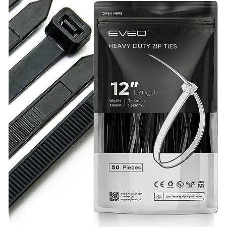 Black Zip Ties Cable Ties Straps /& Zipties Chain Link Fence Parts Zip Ties 8 Inch Zip Ties Plastic Ties Wire Ties Wraps For Cable Management