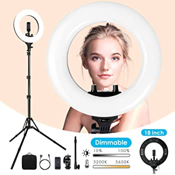 LimoStudio 14 LED Dual Color Dimmable Continuous Lighting for Beauty Facial Shoot with Bluetooth Remote Camera Shutter PROMOAGG2820/_V2 1//4 Hot Shoe Mount Adapter