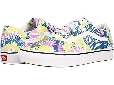 Vans Comfycush Old Skool ((Tie-Dye) Orchid/True White) Athletic Shoes