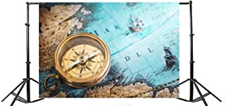 Yeele 5x3ft Vintage Nautical Map Compass Photo Backdrops Vinyl Columbus Day Historical Earth Geography Photography Background Studio Props