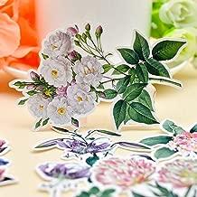 15pcs Water Color Retro Flower Sticker Planner Scrapbooking Notebook Chrysanthemum Sticker/Gilrs Romantic Rose Sticker