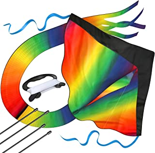 aGreatLife Huge Rainbow Kite for Kids for Outdoor Games and Activities
