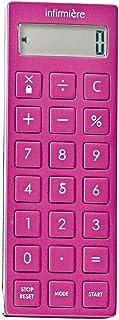 時計付電卓タイマー 医療 ナース 看護 介護 dretec ナースグッズ・医療雑貨 タイマー 電卓 ストラップ付 ピンク