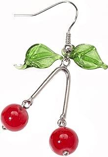 Women's Retro Rock Cherry Earrings