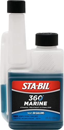 popular STA-BIL lowest 360 Marine Ethanol Treatment and Fuel Stabilizer - Prevents Corrosion - Helps Clean Fuel System For Improved popular In-Season Performance - Treats Up To 80 Gallons, 8 fl. oz. (22239) outlet sale