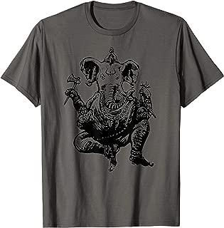 Design Hindu deity elephant T-shirt , casual