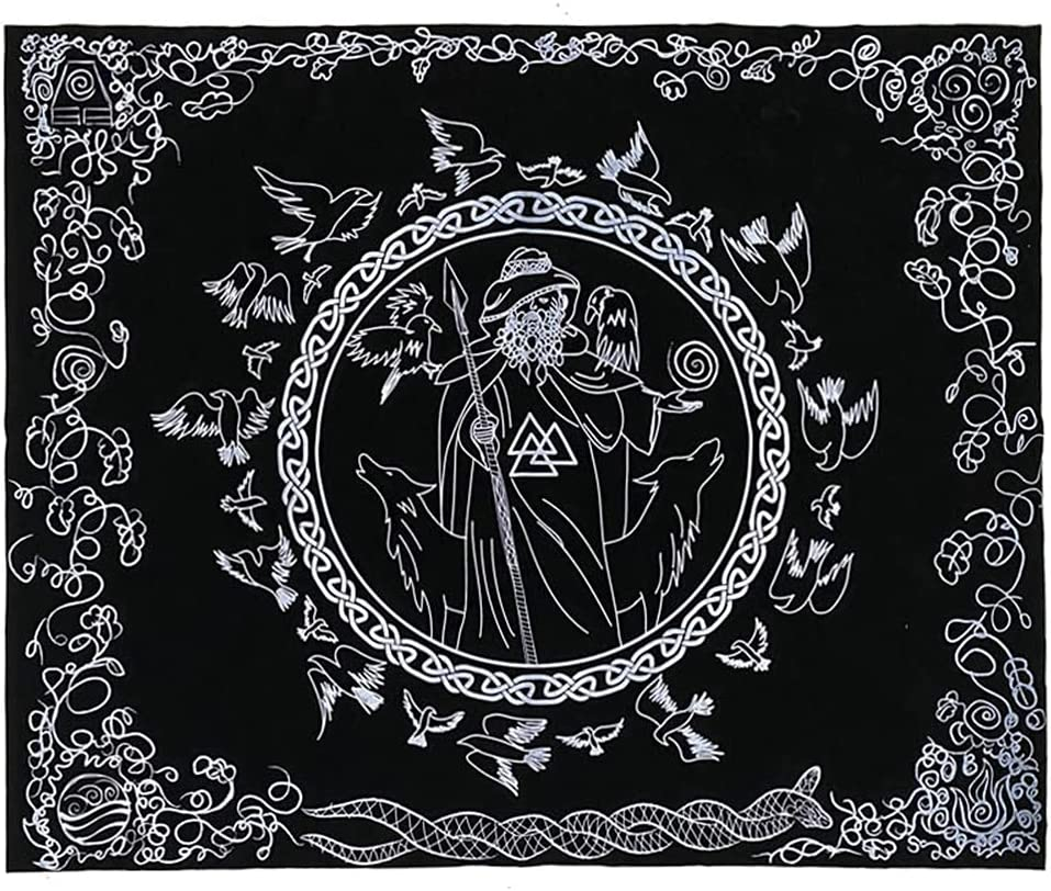 Directly managed store MKIU Altar Cloth Manufacturer direct delivery Odin Blessing Velvet Card Tarot Rituals Tablec