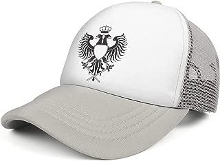 QILI Two Headed Masonic Eagle Hip Hop Mesh Snapback Hats Relaxed Fit Trucker Cap Adjustable Unisex