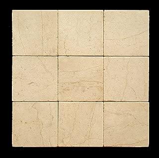 Crema Marfil 4X4 Marble Tumbled Tile