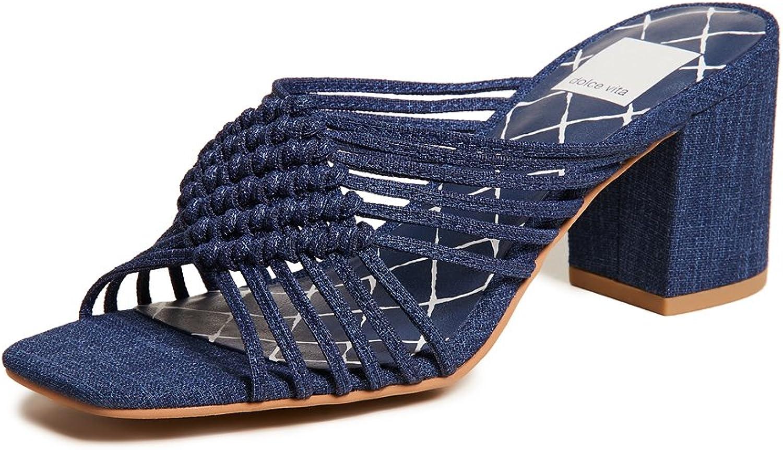 Dolce Vita Women's Delana Woven Block Heel Sandals