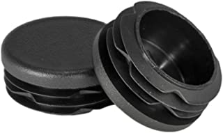 Prescott Plastics 1 1/4 Inch Round Plastic Plug, Pipe Tubing End Cap, Durable Chair Glide (8)