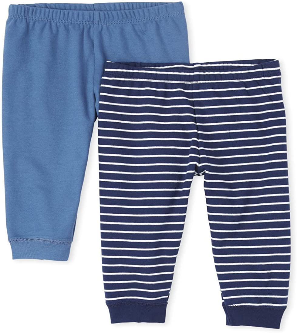 The Children's Place Baby Boys' Striped Pants 2-Pack