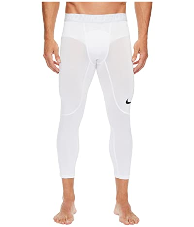 Nike Pro 3/4 Tight (White/Pure Platinum/Black) Men