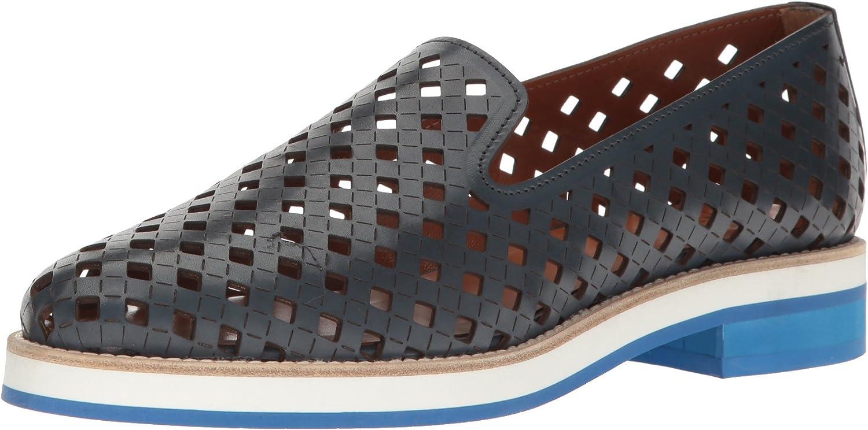 Aquatalia Womens Zanna Perforated Calf Slip-On Loafer