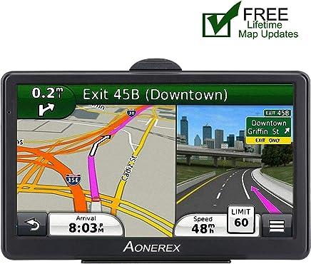 GPS Navigation for car,7 inch HD GPS Navigator System Spoken Turn-by-Turn Directions, Direct Access, Driver Alerts, Lifetime Map Update Spoken SAT NAV for car