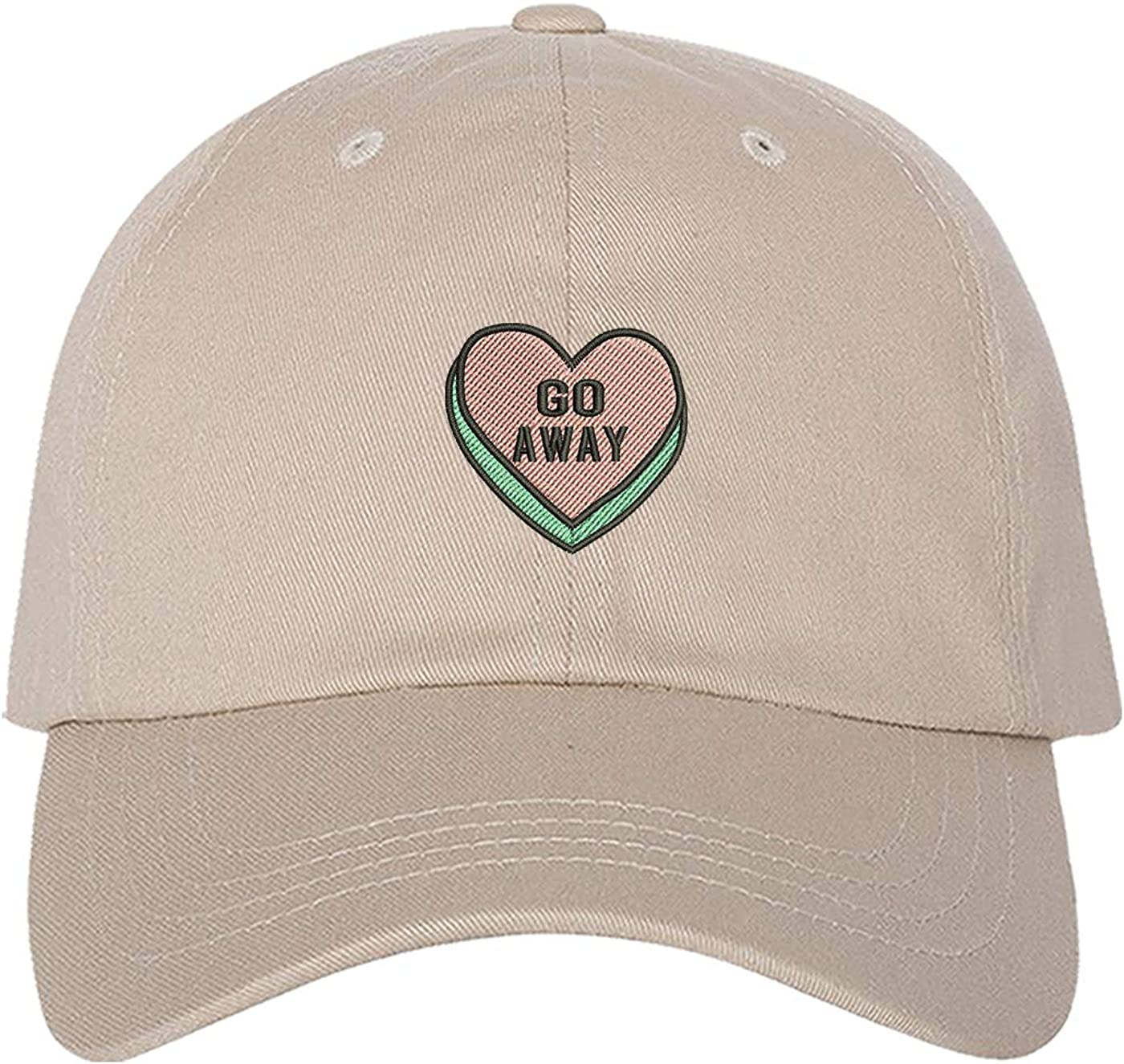 Prfcto Lifestyle Go Away Candy Heart Baseball Cap - Valetines Day Hat - Unisex