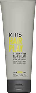 KMS HAIRPLAY Styling Gel Flake-Free, Glossy Shine & Firm Hold, Long-Lasting Control, Unisex, 6.7 oz