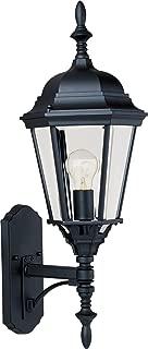 Maxim Lighting 1003BK, Westlake Cast Outdoor Wall Lantern, Black