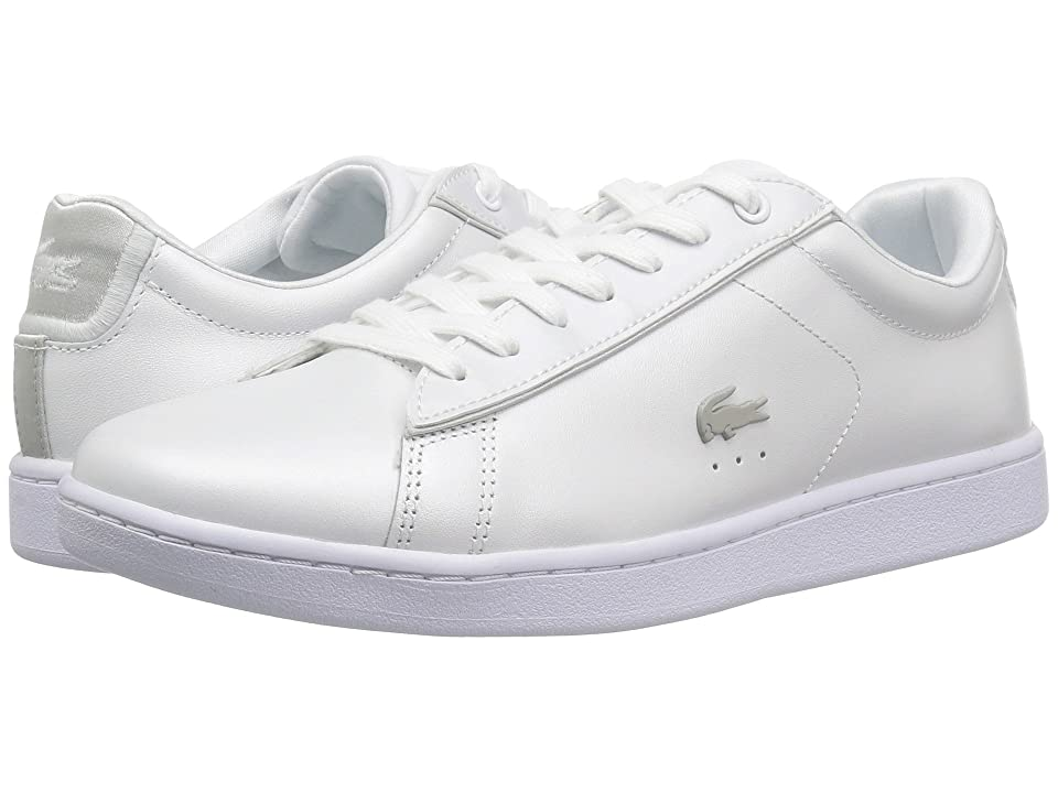 Lacoste Carnaby Evo 118 6 (White/Light Grey) Women
