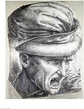 Head of a Warrior by Leonardo Da Vinci Art Print, 17 x 22 inches