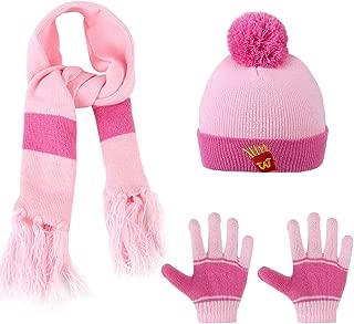 Kids 3-Pieces Knit Hat + Scarf + Gloves Set Winter Warm Set for Boys Girls