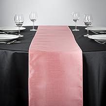 """مفرش طاولة شانتونغ سيلك من لينين سماط, 14 * 108"""", زهري"""