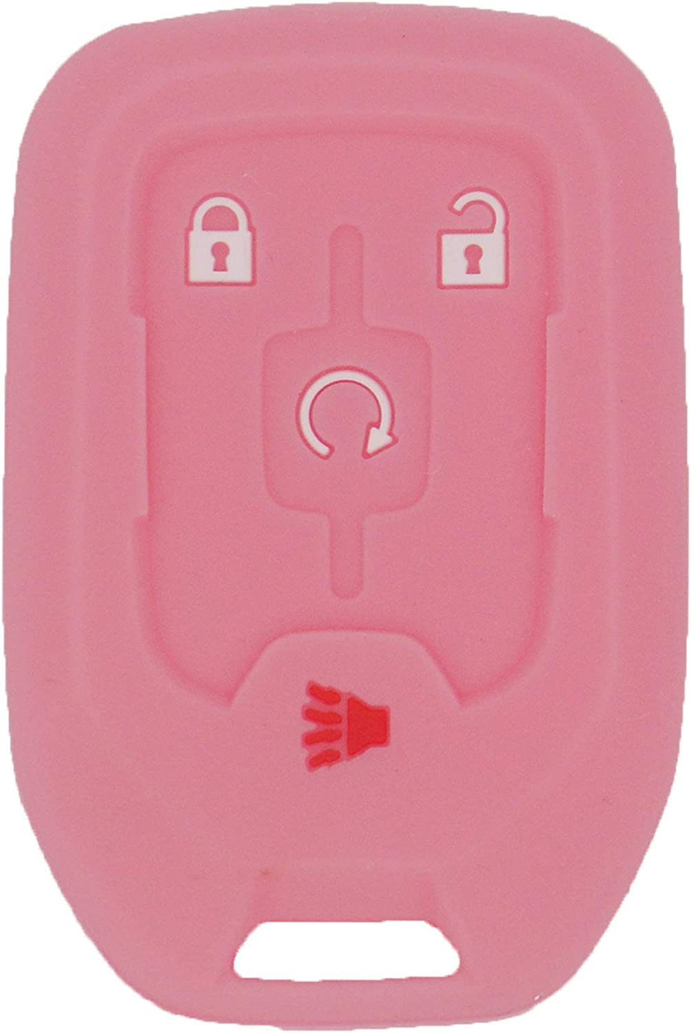 22984995,Red Pink fit with HYQ1AA 13584512 LemSa 2Pcs 5 Buttons Silicone Key Fob Cover Case Remote Keyless Protector Bag Holder Compatible with GMC Terrain 2018 2019 2020 13591388