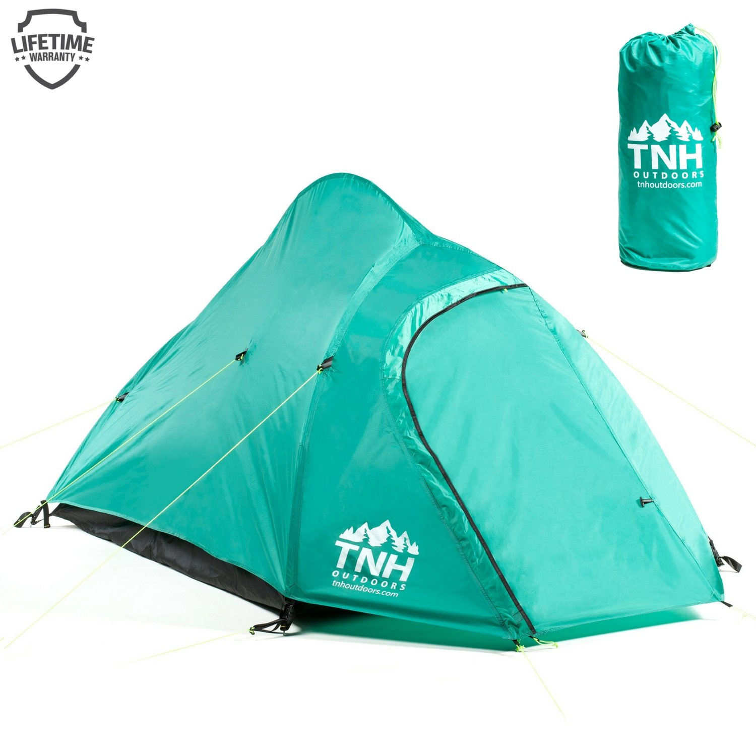 TNH Outdoors 2 Person C&ing u0026 Backpacking Tent with Carry Bag and Stakes - Portable Lightweight  sc 1 st  Amazon.com & Camping Backpack to Carry Tent: Amazon.com
