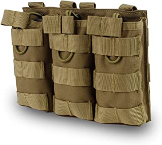 Outry M4 M16 AR-15 Type Magazine Pouch Mag Holder - Triple/Double/Single Airsoft MOLLE Mag Pouch