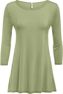 5ae26da685b Simlu Womens Tunic Tops for Leggings Reg and Plus Size 3/4 Sleeve Tunic  Shirt