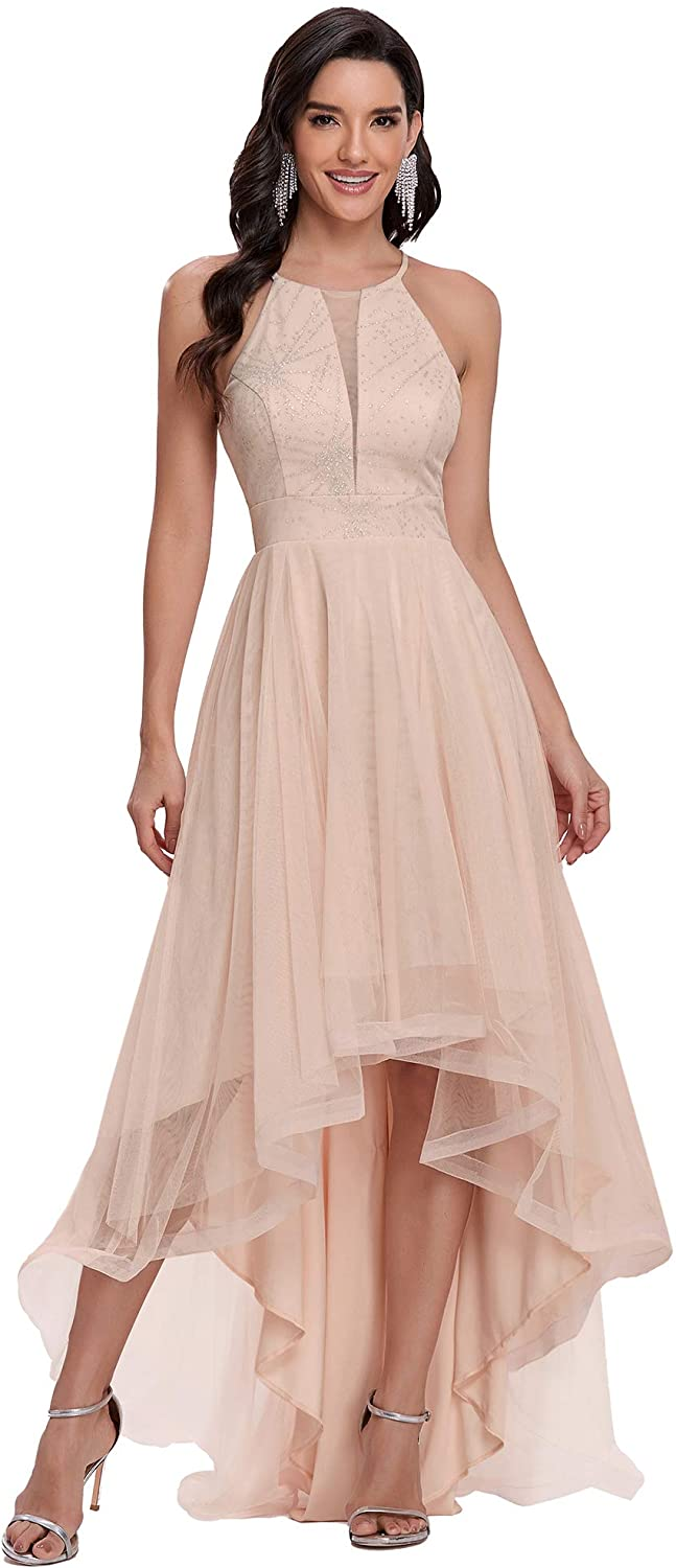 Ever-Pretty Womens Sleeveless Tulle A Line High Low Cocktail Dress 0272