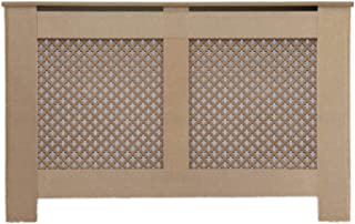 Funda Protectora para radiador de Madera de DM con diseño de Estrellas sin Pintar, en 5 tamaños, Large 152 x 19 x 81.5cm