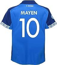 Umbro MAYEN #10 El Salvador Home Youth Soccer Jersey-Blue 2019-20