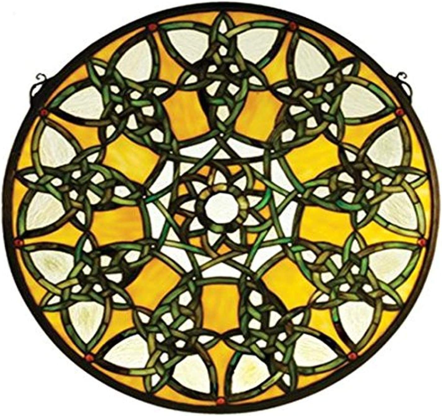 Meyda Tiffany 51531 Knotwork Trance Wind New arrival Stained Medallion Max 75% OFF Glass