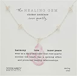 Healing Gem, Rose Quartz Choker Necklace