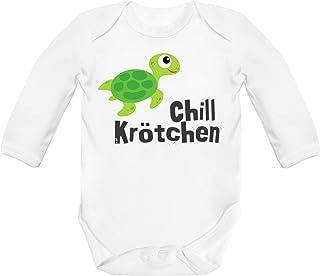 ShirtStreet süße Schildkröte Turtle Strampler Bio Baumwoll Baby Body langarm Jungen Mädchen Chillkrötchen 1
