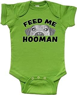 Inktastic Goofy Dog-Feed Me Hooman Infant Creeper