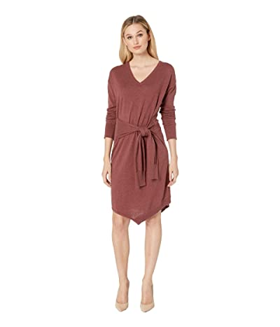 Kenneth Cole New York Asymmetrical Sweater Dress (Rose Brown Heather) Women