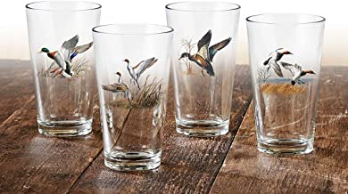 Waterfowl Mixer Glasses by David A. Maass