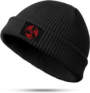 Unisex Black Beanie Hat Akatsuki Winter Warm Soft Slouchy Knit Fisher Cap for Man Women