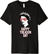 Queen Elizabeth II HAPPY TREASON DAY Funny July 4 Meme Premium T-Shirt