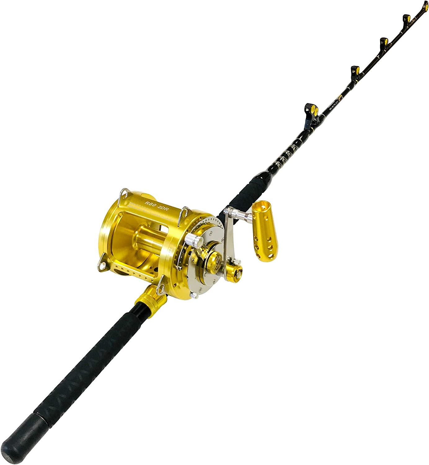EatMyTackle 80 Wide 2 Speed Los Angeles Mall Fishing Reel M 100-120 on lb. a Blue 55% OFF