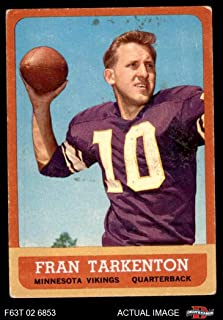 1963 Topps # 98 Fran Tarkenton Minnesota Vikings (Football Card) Dean's Cards 3 - VG Vikings