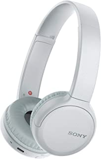 Sony WH-CH510 Wireless On-Ear Headphones with Mic, White