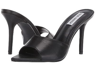 Steve Madden Feisty Heeled Sandal (Black Leather) Women