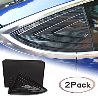 omotor for Tesla Model 3 Quarter Side Window Scoop Louvers ABS Window Cover Vent Lambo Style Window Cover Protector(2pcs)