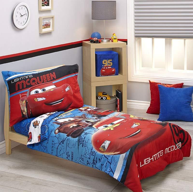 Disney Cars Team Lightening 4 Piece Toddler Bedding Set